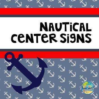 Nautical Preschool Center Signs