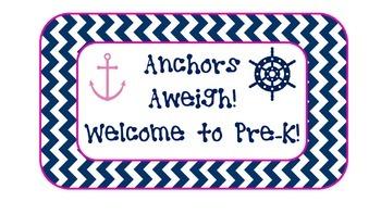 Nautical Preschool Sign