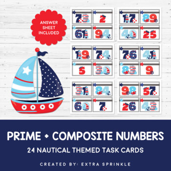 Nautical Prime + Composite Numbers Task Cards