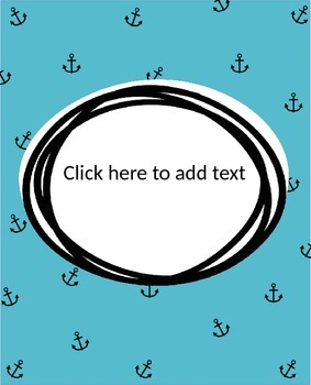 Nautical Print Editable Binder Covers
