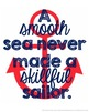 Nautical Quotes Red and Navy