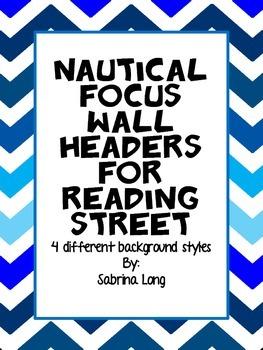 Nautical: Reading Street Interactive Focus wall headers