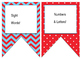Nautical (Red,White,Blue,Light Blue) themed EDITABLE bulletin board banners