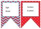 Nautical (Red,White,Blue,Light Blue) themed EDITABLE bulle