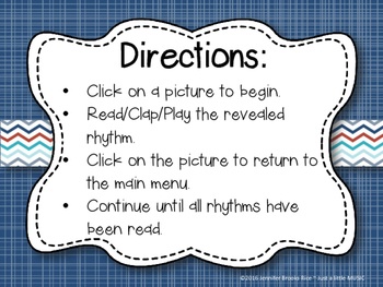 Nautical Rhythms - Interactive Reading Practice Game {ta-ah}