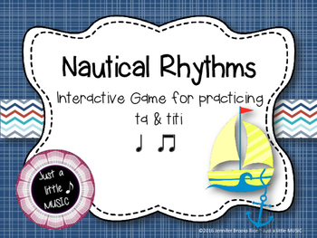 Nautical Rhythms - Interactive Reading Practice Game {ta titi}