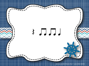 Nautical Rhythms - Interactive Reading Practice Game {ta titi rest}