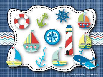Nautical Rhythms - Interactive Reading Practice Game {ti tom}