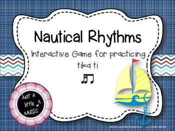 Nautical Rhythms - Interactive Reading Practice Game {tika ti}