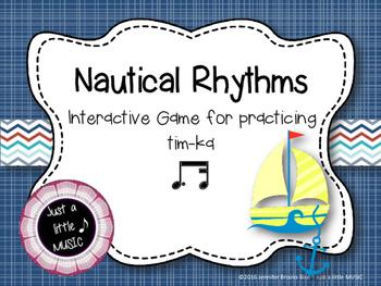 Nautical Rhythms - Interactive Reading Practice Game {tim ka}