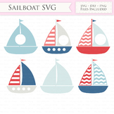 Nautical SVG Files - sailing boat svg cut files for Cricut