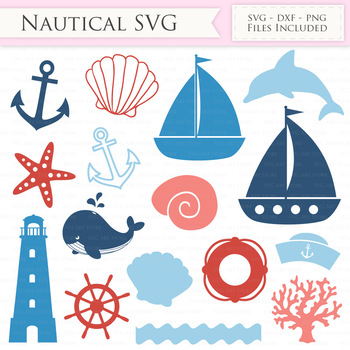 Nautical SVG Files - sailing svg cut files for Cricut and Silhouette
