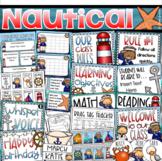Nautical Sailing Class Management Decor Bundle (Rules, Brag Tags, Newsletter)