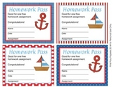 Nautical Sailing Homework Passes