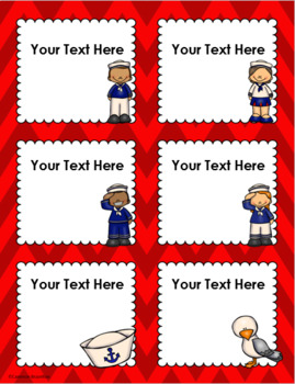 Nautical Sailing Theme Classroom Labels Decorations Editable Powerpoint