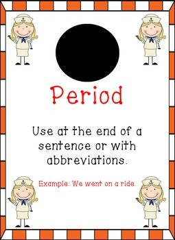 Nautical (Sailor) Themed - Punctuation Posters