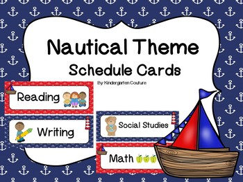 Nautical Schedule Cards