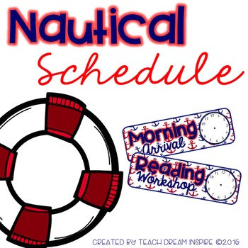 Nautical Schedule Cards (Editable)