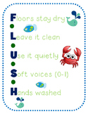 Nautical School Rule Acronym Posters