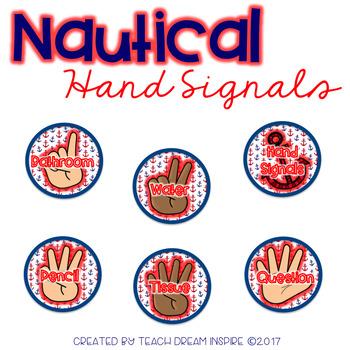 Nautical Silent Hand Signals