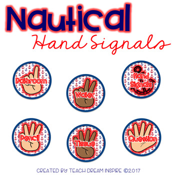 Nautical Silent Hand Signals {Editable}