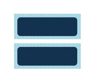 Nautical Simple Blue Schedule Cards