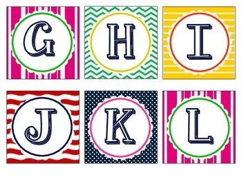Nautical Square Letters