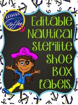 Nautical Sterilite Shoebox Labels