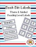 Nautical Stripe Book Bin Labels (Theme & Guided Reading)