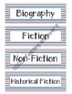 Nautical Stripe Book Bin Labels (Theme & Guided Reading)