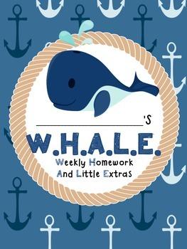 Nautical Student Notebook {W.H.A.L.E.}