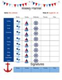 Nautical Student Weekly Planner (EDITABLE)