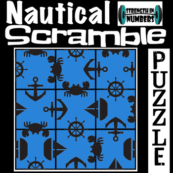 Nautical Summer 3x3 SCRAMBLE Puzzle for Early Finishers