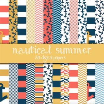 Nautical Summer Digital Papers