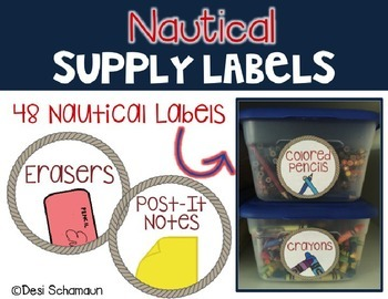 Nautical Supply Labels