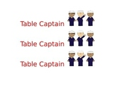 Nautical Table Captain Label - EDITABLE!
