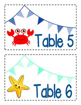 Nautical Table Labels