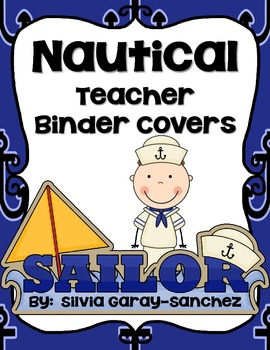 """Nautical Teacher Binder Covers and 2"""" Spines"""
