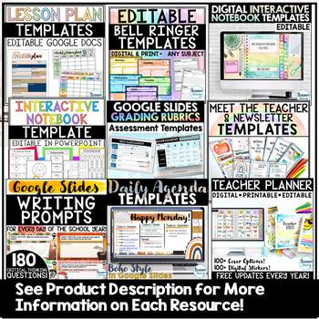 Nautical Teacher Binder & Decor (Editable)
