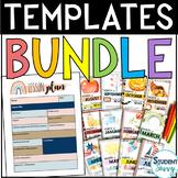 Nautical Teacher Binder & Decor (Editable) Teacher Planner