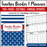 Nautical Teacher Binder