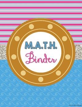 Nautical Teacher M.A.T.H. Binder