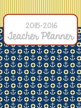 Nautical Teacher Planner 2016-2018