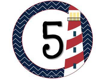 Nautical Team Number Signs
