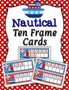 Nautical Ten Frame Cards