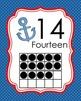 Nautical Ten Frame Posters 0 - 20