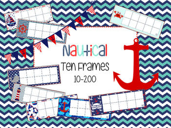 Nautical Ten Frames (red & navy)
