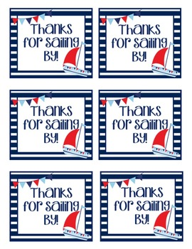Nautical Thank You Labels - Treat Bag Labels