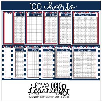 Nautical Theme 100 Charts