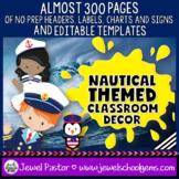 Nautical Theme Classroom Decor EDITABLE (Nautical Classroo